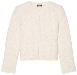 Theory Virgin Wool-Blend Zip-Front Peplum Jacket