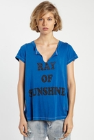 Rebel Yell Sunshine Slit Crew Neck in Royal Blue