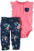 Carter's Baby Girl Bodysuit & Floral Pants Set