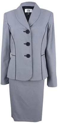 Le Suit LeSuit Women's Seersucker 3 Button Skirt