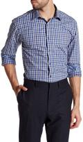 Bugatchi Plaid Shaped Fit Woven Shirt