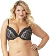 Olga Women's Plus Size Flirty Deep Plunge Underwire Contour Bra with Lace