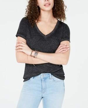 Ultra Flirt Juniors' Heathered V-Neck T-Shirt