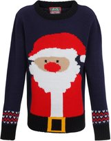 Kids Christmas Jumper Rudolph stripe knitted Boys jumper-Xmas Boys Sweater-5-6