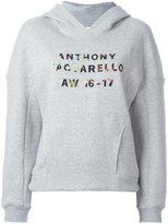 Anthony Vaccarello logo print hoody
