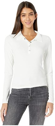 RVCA Capped Long Sleeve Polo (Off-White) Women's Clothing