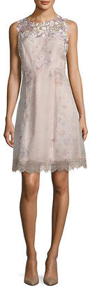 Elie Tahari Ohanna Silk A-Line Dress