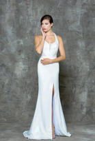 Glow by Colors - G651 Halter Sleeveless Long Dress with Slit