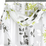 POPULAR BATH Popular Bath Mayan Leaf Shower Curtain with Valance