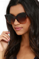 LuLu*s Touring Toulouse Brown Tortoise Sunglasses