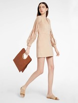 Halston Ultrasuede Multi Strap Detail Mini Dress