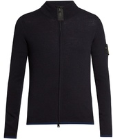 Stone Island Zip-through Wool-blend Cardigan