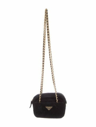 Prada Quilted Scamosciato Chain-Link Bag Black