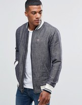 Abercrombie & Fitch Bomber Jacket Varsity In Classic Regular Fit