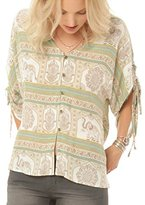 O'Neill Juniors Bex Woven Printed Blouse