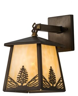 Stillwater Meyda Tiffany Mountain Pine 1-Light Outdoor Wall Lantern Meyda Tiffany