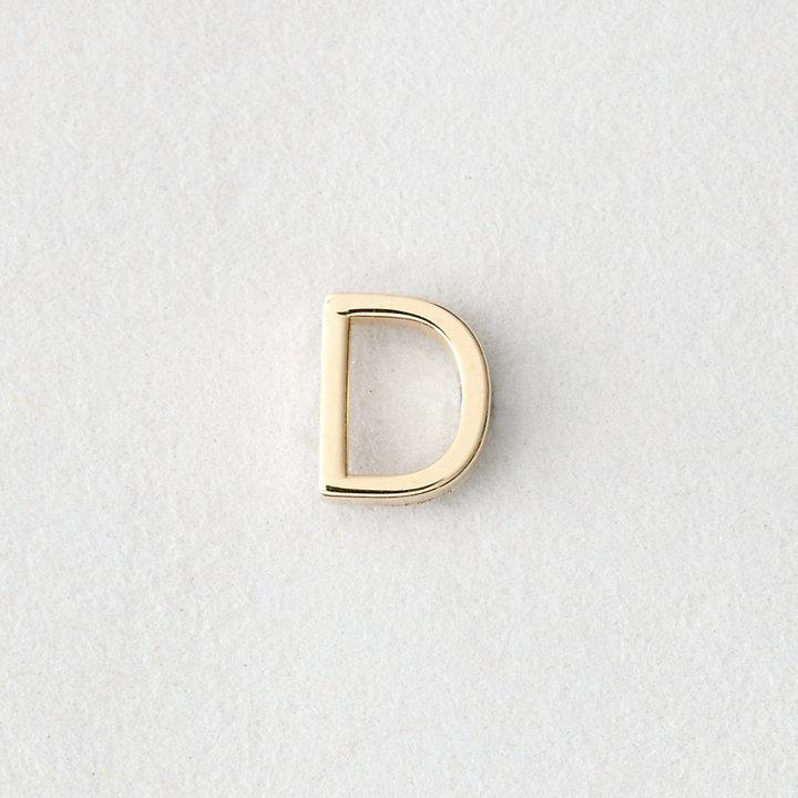 Maya Brenner DESIGNS mini letter stud earring - d