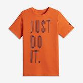 "Nike Reflective ""Just Do It"" Big Kids' (Boys') T-Shirt"