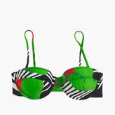J.Crew Underwire bandeau bikini top in Ratti® striped floral