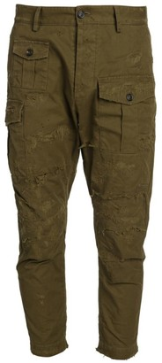 DSQUARED2 Skinny-Leg Distressed Cargo Pants