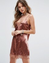 Glamorous Cami Romper With Lace Trims