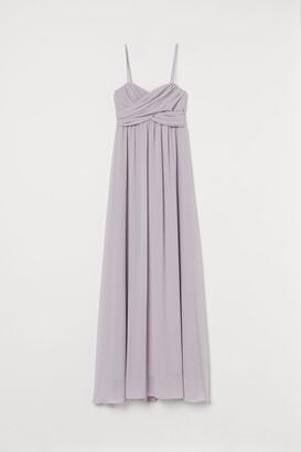 H&M Long Bandeau Dress - Purple