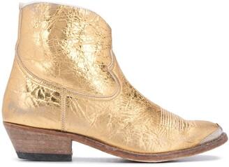 Golden Goose Metallic Cowboy Boots