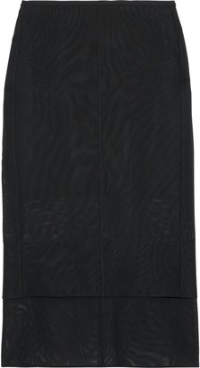 Thierry Mugler Layered Tulle Midi Pencil Skirt