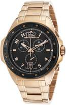 Ted Lapidus 5121511Sm-Dd Men's Chrono Rose-Tone Stainless Steel Black Dial Watch