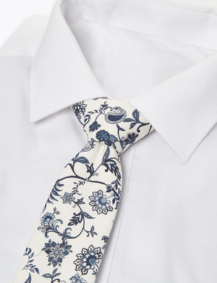 Marks and Spencer Slim Woven Printed Floral Tie
