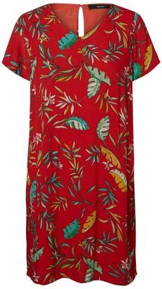 Vero Moda Palm Tree Print Shift Dress