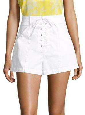 A.L.C. Kyle Lace-Up Stretch-Cotton Shorts