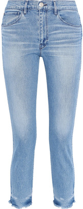 3x1 Faded High-rise Straight-leg Jeans