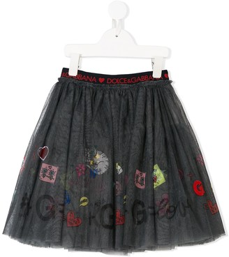 Dolce & Gabbana Printed Tutu Skirt