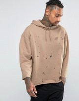 Asos Oversized Hoodie With Paint Splats