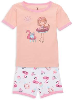 Petit Lem Sleep Little Girl's 2-Piece Pajama Set