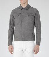 Reiss Reiss Bastian - Suede Jacket In Grey