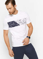 Michael Kors Palm-Print Cotton T-Shirt