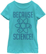 Fifth Sun Tahiti Blue 'Because Science' Crewneck Tee - Girls