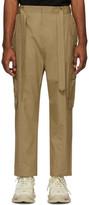 Juun.J Beige Cotton Cargo Pants