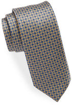 Black Brown 1826 Narrow Medallion Print Tie