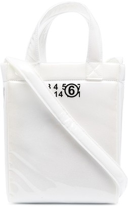 MM6 MAISON MARGIELA Logo Print Tote Bag