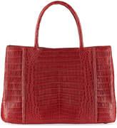 Nancy Gonzalez Medium Sectional Crocodile Tote Bag, Cranberry