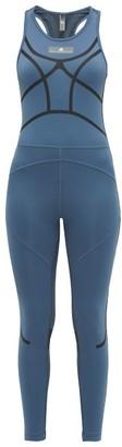 adidas by Stella McCartney Training Logo-print Bodysuit - Blue