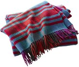 CB2 Lambswool Multicolor Plaid Throw