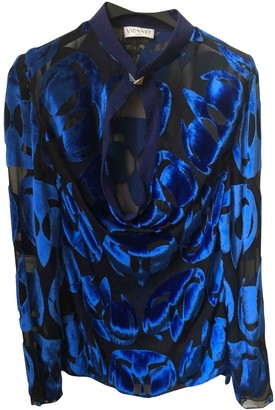 Vionnet Blue Silk Top for Women