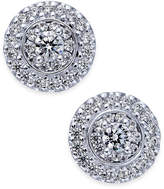 Macy's Diamond Round Cluster Stud Earrings (7/8 ct. t.w.) in 14k White Gold
