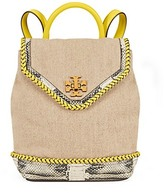 Tory Burch Kira Braided Canvas Backpack