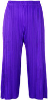 Pleats Please By Issey Miyake pleated texture cropped trousers