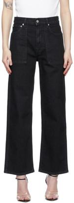 Helmut Lang Black Straight Factory Jeans